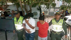 Presuntos atracadores del bus Intermunicipal
