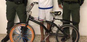 La bicicleta que le robó el joven de 18 años al menor de edad. Foto:Mebar.