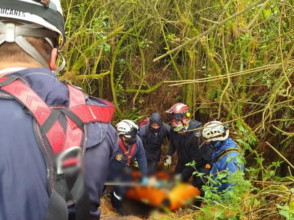 Migrante cayó al río