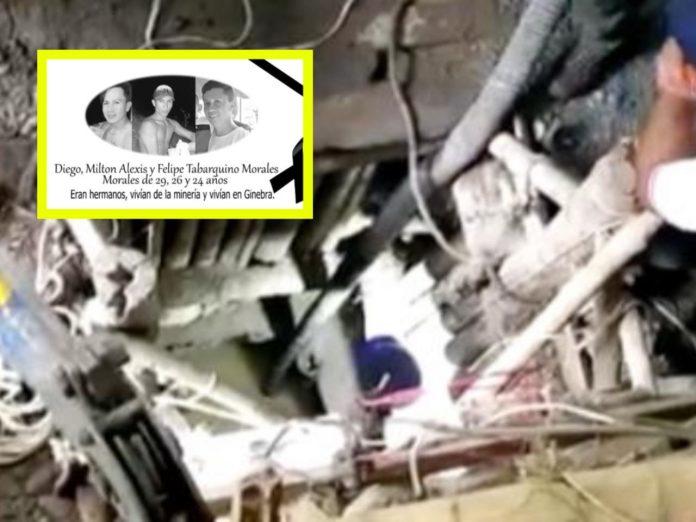 hermanos mineros atrapados en Neira Caldas
