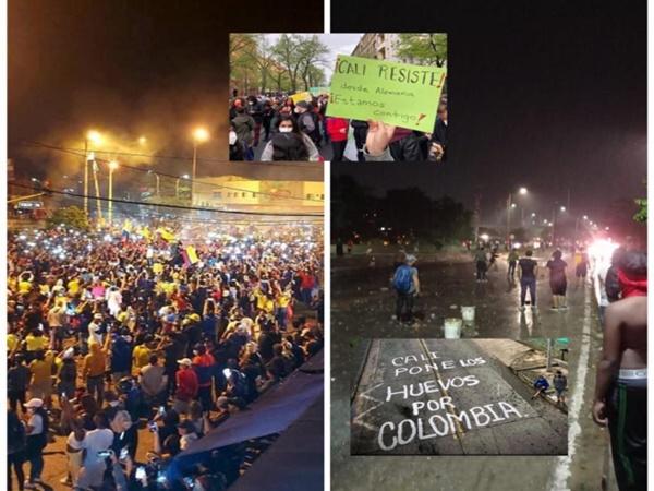 Elogios para Cali, miles de manifestantes se mantuvieron en la calle y 'frentiaron' al Gobierno Nacional