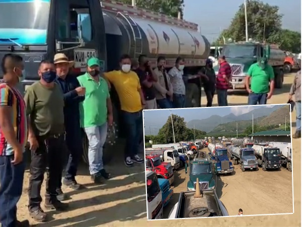 Transportadores están represados en Yumbo, dicen que si no hay solución habrá desabastecimiento en Cali, Cauca y Nariño