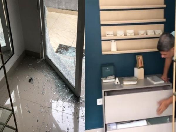 """""""Partieron los vidrios de la entrada y arrasaron con la joyería"""", jóvenes emprendedores víctimas de ladrones en Barranquilla - Noticias de Colombia"""