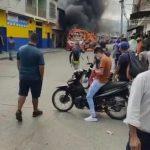 """Autobuses en llamas """"y la gente aquí está filmando, qué peligro"""", en Florida - Valle - Noticias de Colombia"""