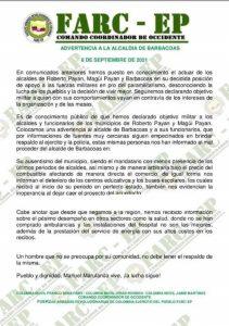 Investigan panfleto de grupo armado que amenaza a tres alcaldes en Nariño - Noticias de Colombia
