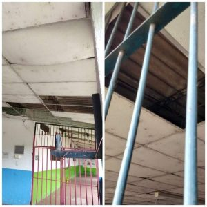 Madres denuncian el mal estado de una escuela en el distrito de Salomia